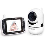 Moniteur vidéo HelloBaby pour bébé avec caméra à distance Pan-Tilt-Zoom, écran 3,2 ''