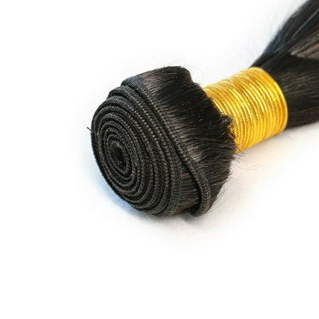 Straight Hair Weave Bundles Deals Double Drawn Raw Unprocessed Virgin Wear - image 5 of 9