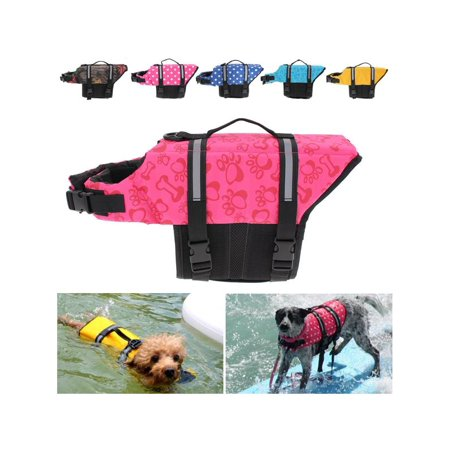 4 Pet Accessories Sizes Dog Life Jacket Pet Doggy Swimming Float Vest Buoyancy Aid Coat with Reflective Stripes