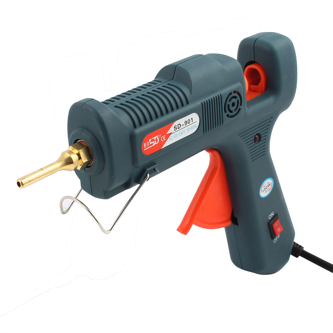 AC 100-240V 100W US Plug Green Hot Melt Glue Gun for DIY Small Craft Projects by Unique-Bargains