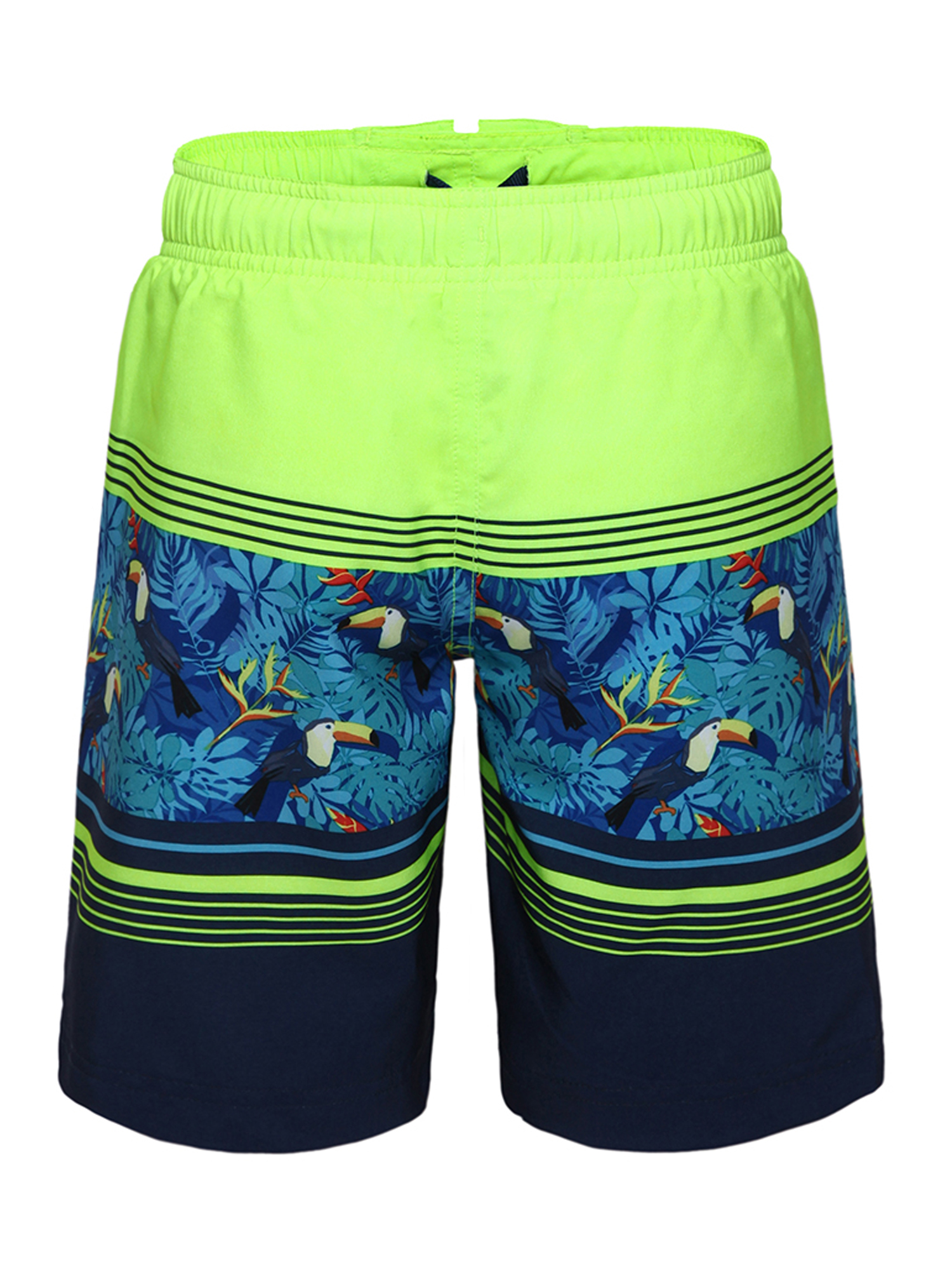Mens Swim Trunks Blue Pattern with Sketches Summer Elements Quick Dry Beach Board Shorts with Mesh Lining