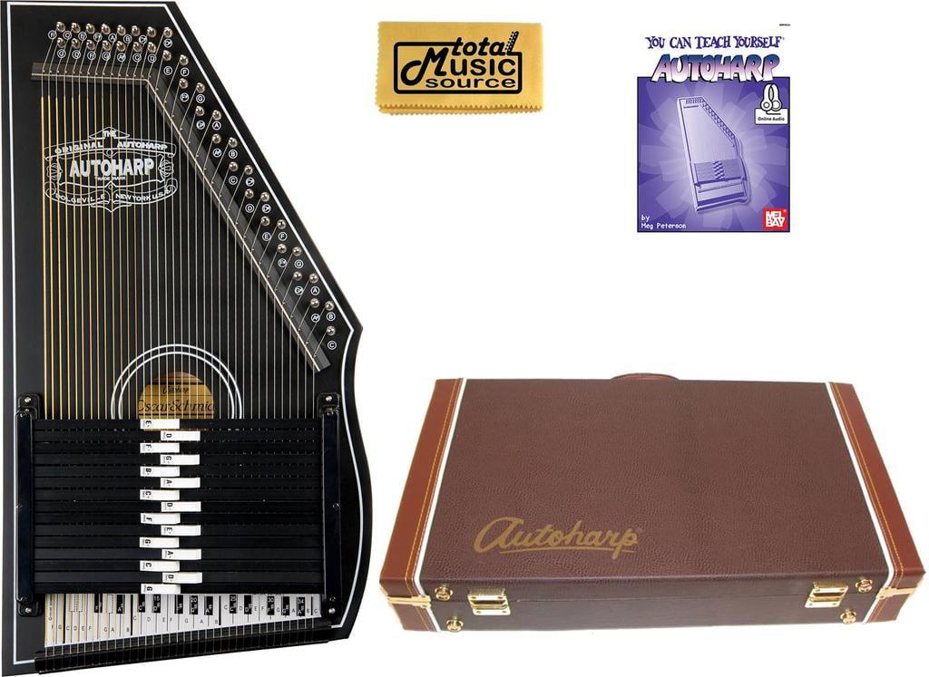 Oscar Schmidt 1930's Reissue 15 Chord Autoharp, Original Design, Black, OS73B w Hard Case,... by Oscar Schmidt