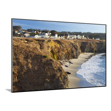Coastal Town of Mendocino, California, United States of America, North America Wood Mounted Print Wall Art By (Best Coastal Towns In America)