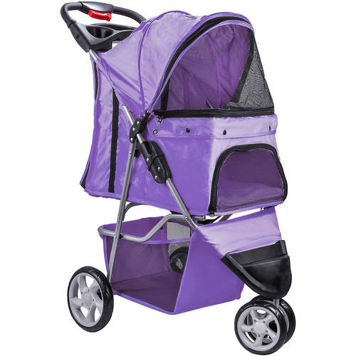 OxGord Pet Stroller Cat/Dog Easy Walk Folding Travel Carriage, 2016 Design