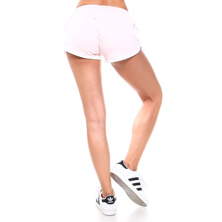 Womens Casual Active Stretch Running Colorblock Mini Shorts RP52006-S-Lt.Pink