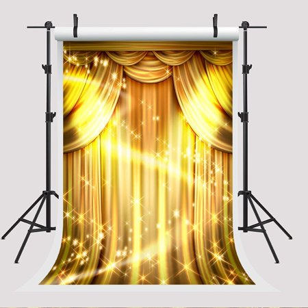 HelloDecor Polyster 5x7ft Golden Curtain Photography Backdrop Party Activity Photo Booth Background](Photo Booth Curtains)