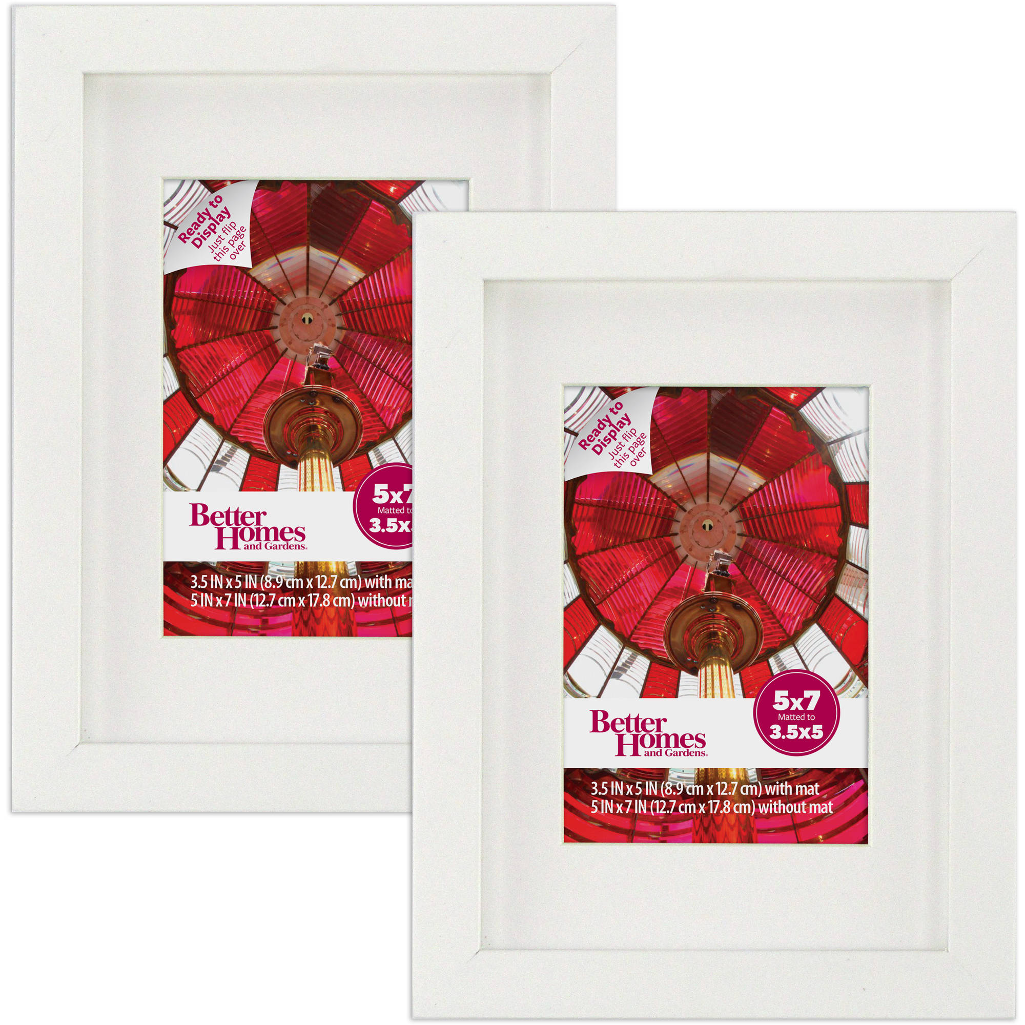 Better Homes and Gardens 5x7 Frame, Set of 2 - White Finish