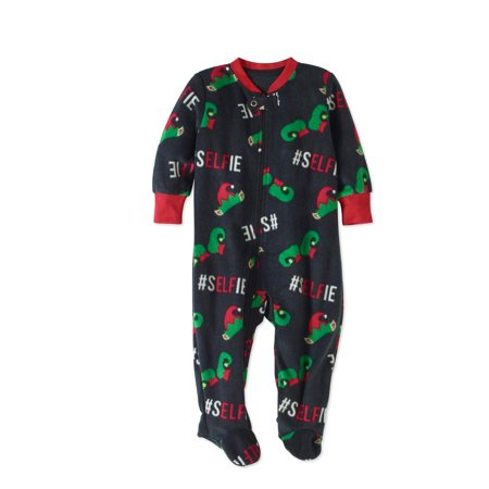 bd330e79fc57 Holiday Family Pajamas Newborn Baby Unisex Elf Selfie Footed ...