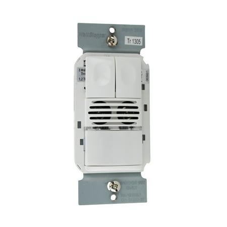 Wattstopper DSW-200-W Dual Technology Dual Relay Wall Switch Sensor 120/277V, White Dual Technology Sensors