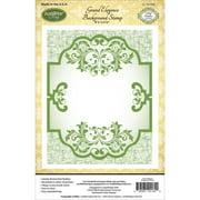 "JustRite Papercraft Cling Background Stamp, 4.5"" x 5.75"", Grand Elegance"