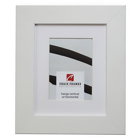 Craig Frames 74267 16 x 24 Inch Satin White Picture Frame Matted to Display a 12 x 18 Inch Photo