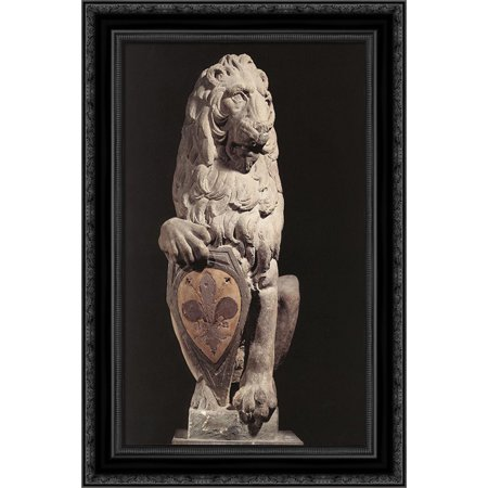 Marzocco 18x24 Black Ornate Wood Framed Canvas Art by - La Marzocco Portafilter