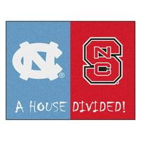 "North Carolina - NC State House Divided Rug 33.75""x42.5"""