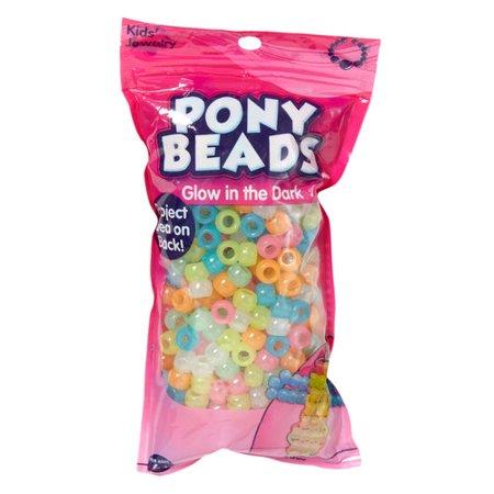Glow In Dark Plastic Pony Beads, - Glow In The Dark Jewelry