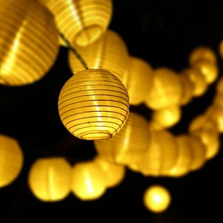 christmas solar lights led lantern lights 197ft 30 led fairy decoration globe lights for