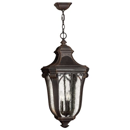 One Light Museum Black Hanging Lantern by Hinkley Lighting