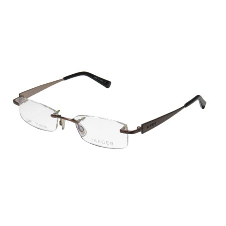 d6846b7d56a New Continental Titanium Fashionable Eyewear Jaeger 248 Womens Ladies  Designer Rimless Titanium Brown Frame Demo