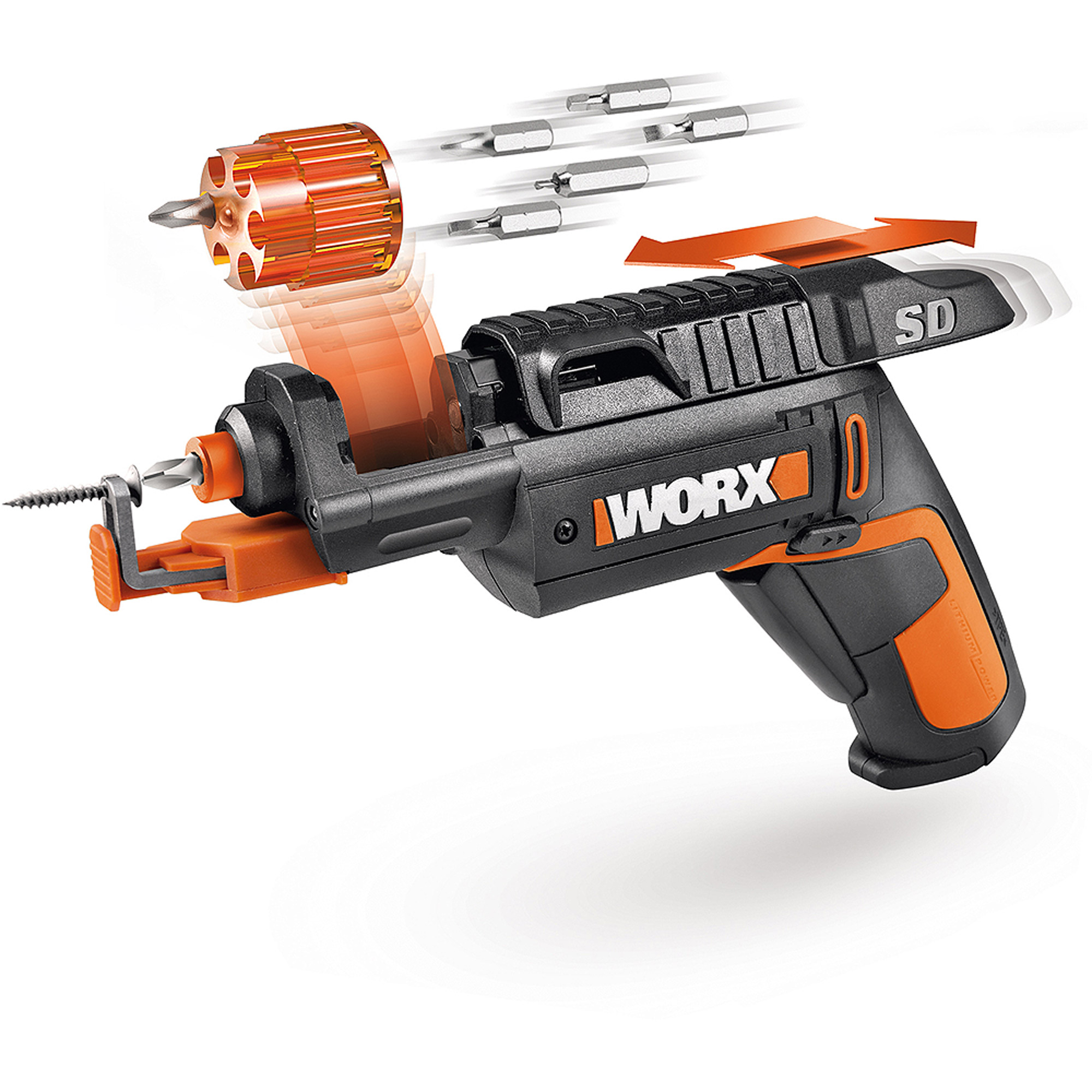 WORX Semi-Automatic Screw Driver with Screwholder Attachment