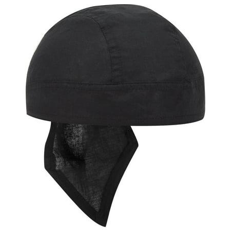 OTTO Cotton Poplin Biker Head Wrap - Black