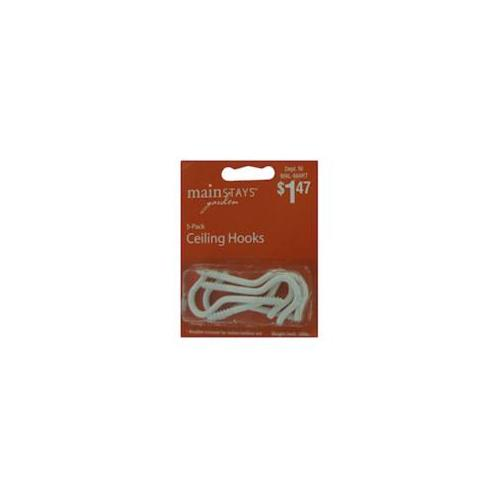 Panacea HoldAll Wire Treaded Ceiling Hook, 5 Per Card, White