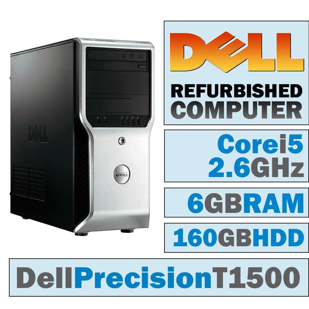 REFURBISHED Dell Precision T1500 MT/Core i5-750 @ 2.67 GHz/6GB DDR3/160GB HDD/DVD-RW/WINDOWS 10 HOME 64 BIT