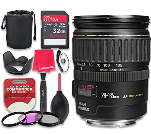 Canon EF 28-135mm f/3.5-5.6 IS USM Lens with 32GB Ultra P...