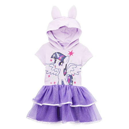 My Little Pony Toddler Girls' Twilight Sparkle Costume Ruffle Dress, Lilac, 2T