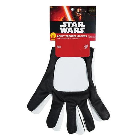 Trooper Gloves Adult Halloween Accessory](Female Storm Trooper)