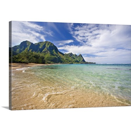 Great BIG Canvas M Swiet Productions Premium Thick-Wrap Canvas entitled Hawaii, Kauai, North Shore, Tunnels Beach, Bali Hai