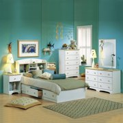 South Shore Newbury Kids Twin Captain S 3 Piece Bedroom Set In White Finish