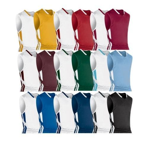 Youth Basketball Jersey by Champro, Muscle Style - Forest/White