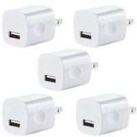 4d7f00d4cb0 Product Image 5x USB Wall Charger, Charger Adapter, FREEDOMTECH 1Amp Single  Port Quick Charger Plug Cube