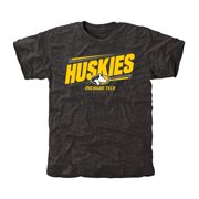 Michigan Tech Huskies Double Bar Tri-Blend T-Shirt - Black