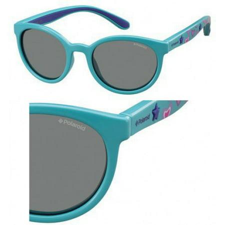 PLD 8014/S 0NE7 MF Turquoise 46mm Polaroid PLD 8014/S Oval Child (age 3-8) Polarized - Turquoise Sunglasses