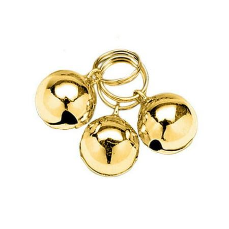 Bell Christmas Dog Collar (Gold Pet Bells for Dog Collar Decoration - 3 Pk., Coastal Round Dog Bells, 3 pack. Color: gold. By Coastal Pet )