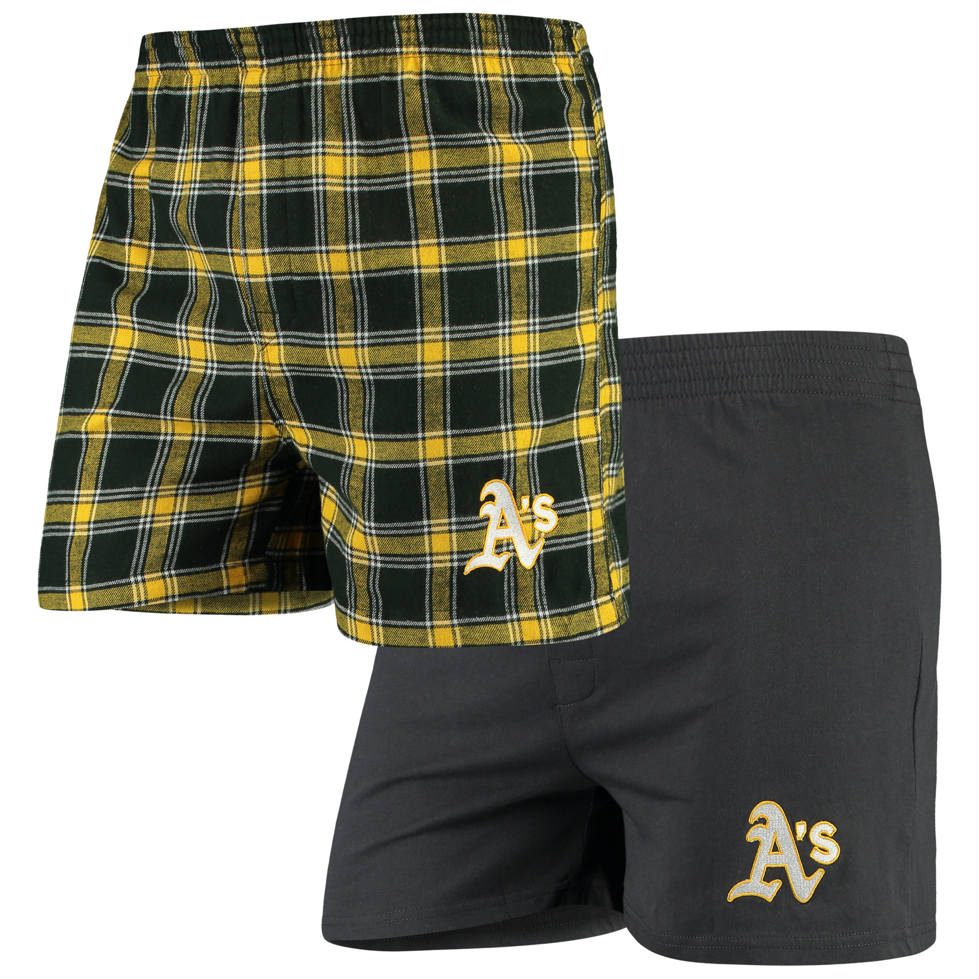 Oakland Athletics Concepts Sport 2-Pack Boxer Shorts - Green