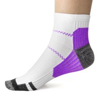 KroO Recovery Performance Medical Compression Socks Plantar Fasciitis, Arch and Ankle Support Sleeve (2 Pairs S/M) for Men, Women, Nurses, Flight Travel, Maternity, Diabetic (Blue)