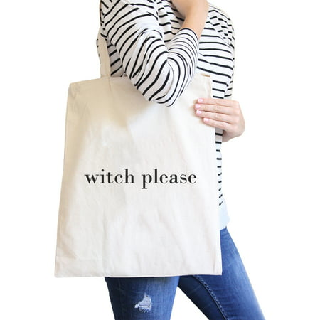 Witch Please Natural Cute Halloween Canvas Shoulder Bag Gift Ideas