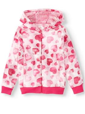 Wonder Nation Embossed Plush Full-Zip Jacket with Hood (Little Girls, Big Girls & Plus)