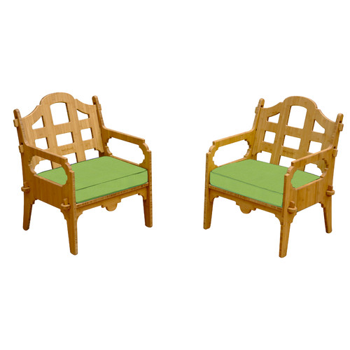Wedgewood Furniture Palladian Solid Lounge Chair (Set of 2)