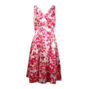 Lauren Ralph Lauren Women's V-Neck Floral Sateen Dress