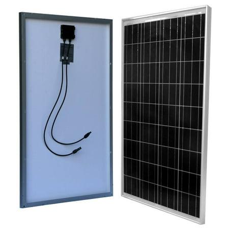 WindyNation 100 Watt 100W Solar Panel for 12V RV, Boat, Off Grid