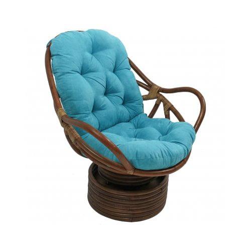 International Caravan Swivel Papasan Chair