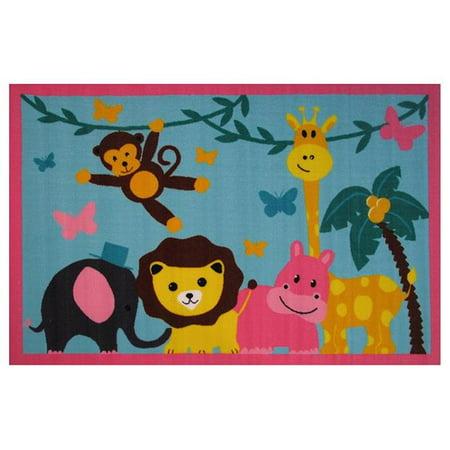 39 x 58 in. Fun Time-Jungle Party Kids Rugs - image 1 de 1