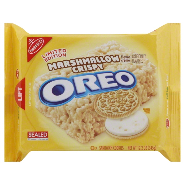 Nabisco Oreo Marshmallow Crispy Creme Sandwich Cookies Limited Edition, 12.2 Oz.