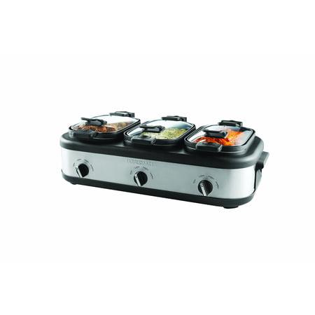 Farberware Buffet Triple Slow Cooker ()