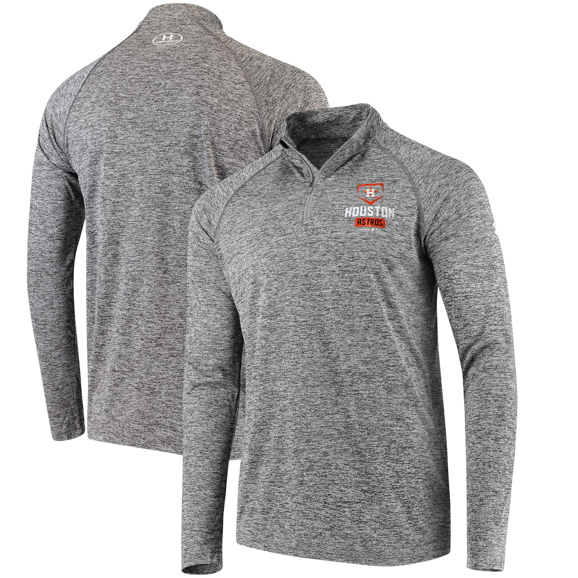 Houston Astros Under Armour Tech Quarter-Zip Performance Pullover - Charcoal