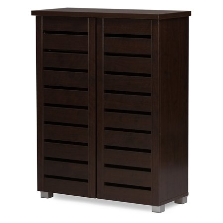Baxton Studio Adalwin 2 Door Entryway Shoes Storage Cabinet
