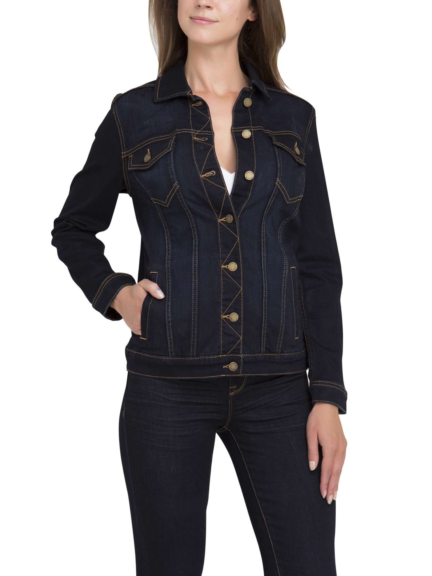 Jordache Women's Midi Denim Jacket