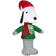 gemmy 15375 airblown snoopy ho sweater christmas inflatable 3.5ft tall
